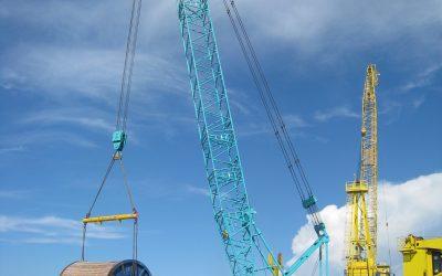 BSP offshore Subsea cable drum lift at Muara Port 2011