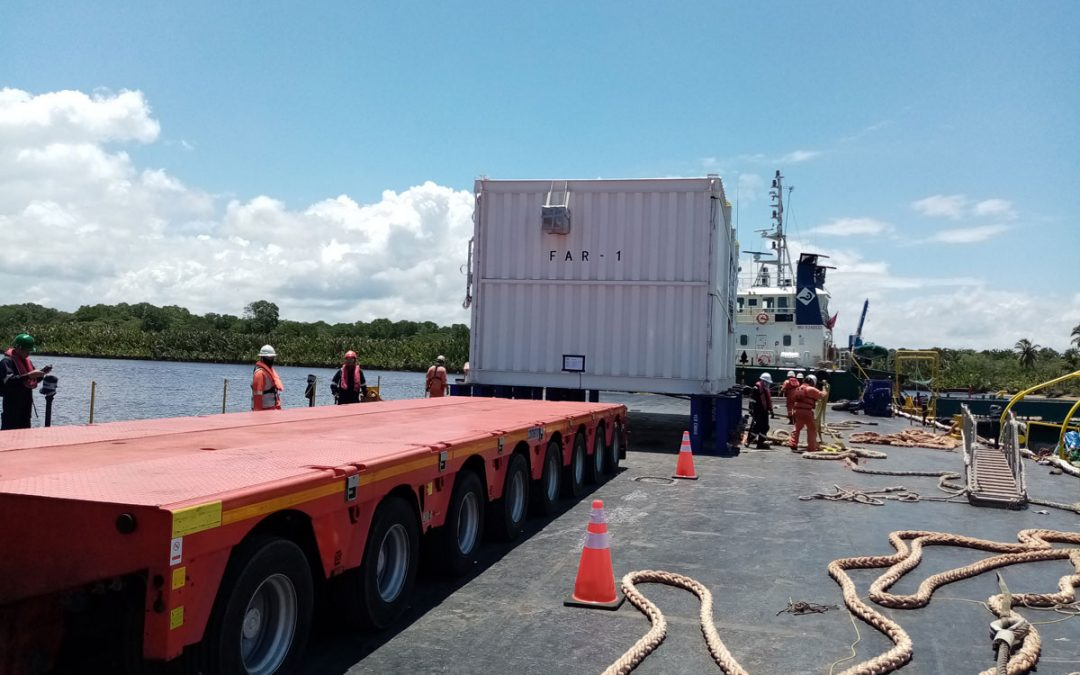 Preparation to transfer of BLNG FAR unit unto Megalift Cometto Trailer at STL KB